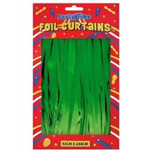 FOIL DOOR CURTAIN GREEN