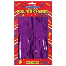 FOIL DOOR CURTAINS PURPLE