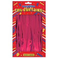 FOIL DOOR CURTAINS PINK