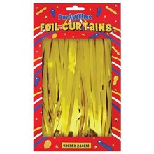 FOIL DOOR CURTAINS GOLD