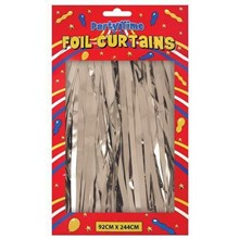 FOIL DOOR CURTAINS SILVER