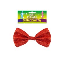BOW TIE GLITTER RED