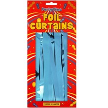 FOIL DOOR CURTAIN BABY BLUE