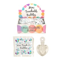 WEDDING TOUCHABLE BUBBLES WHITE HEART - 48 PACK