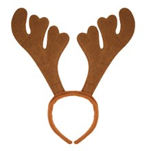 HEADBAND REINDEER ANTLERS BROWN
