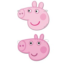PEPPA PIG FACE MASKS (PACK OF 6)