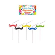 STRAW MOUSTACHE - 5 PACK