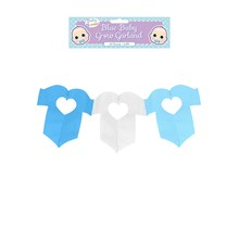 2.6M BLUE BABY GROW GARLAND
