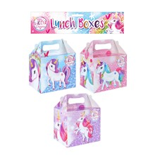 6 LUNCH BOXES UNICORN