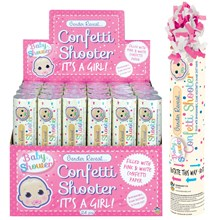 GENDER REVEAL CONFETTI SHOOTER - BABY GIRL PINK