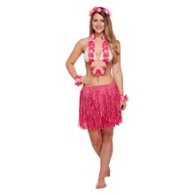 HAWAIIAN FANCY DRESS 5PC SET PINK