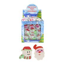 CHRISTMAS ERASERS 2 ASSORTED - 208 PACK