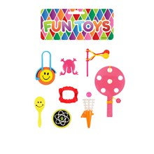 FUN TOYS 8PC ASSORTED TOY BAG