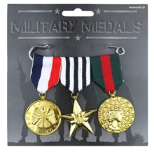 3PC MILITARY MEDAL SET