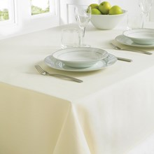 TABLECLOTH 130 X 228CM -  CREAM TAB180262