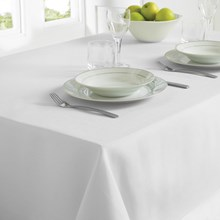 TABLECLOTH 130 X 228CM -  WHITE