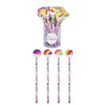 UNICORN PENCIL WITH ERASER TOP - 24 PACK