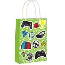 PAPER PARTY BAGS - GAME OVER - 24 PACK