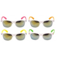 ADULT SUNGLASSES WITH NEON FRAME