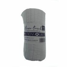 REVERSIBLE READY QUILT - GREY