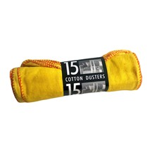 YELLOW DUSTERS - 15 PACK