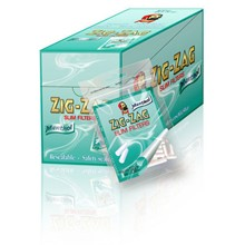 ZIG ZAG MENTHOL SLIM FILTERS - 10 PACK X 150 TIPS