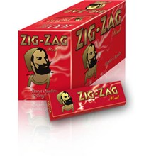 ZIG ZAG RED REGULAR SIZE PAPERS - 100 PACK