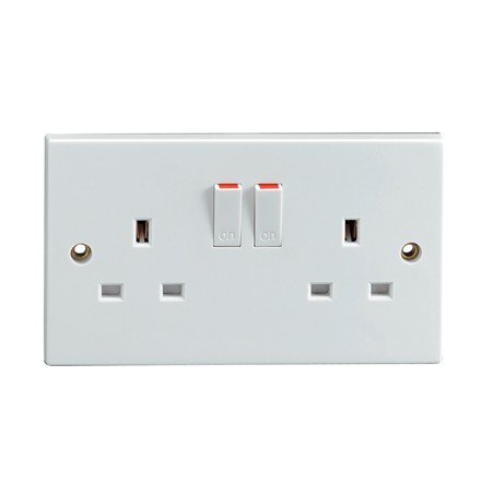 STATUS - 2 GANG SWITCHED SOCKET