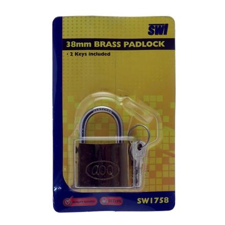 SWL - BRASS PADLOCK - 38MM