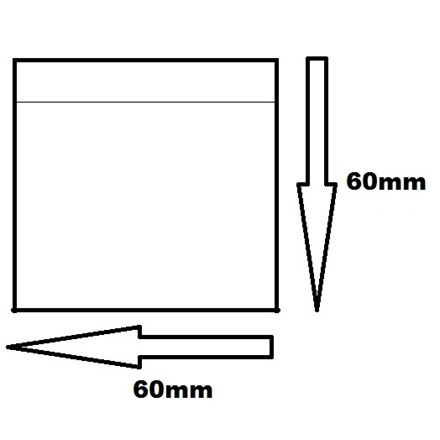 60 X 60MM CLEAR BAGS