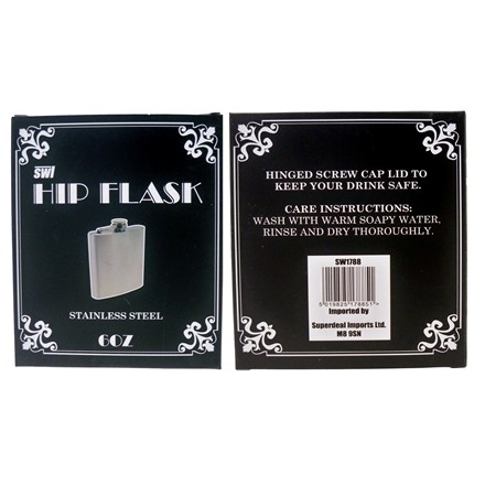 SWL - HIP FLASK 6OZ