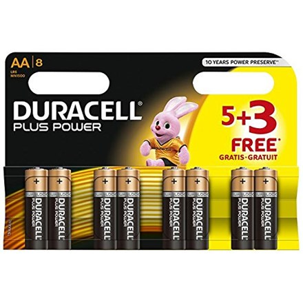 DURACELL AA PLUS POWER 5+3