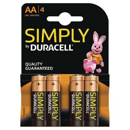 DURACELL SIMPLY AA - 4 PACK