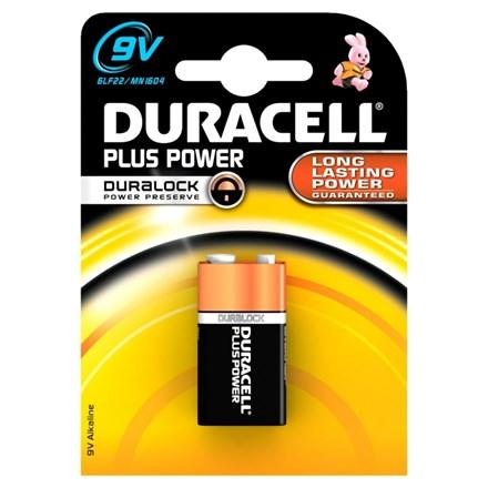 DURACELL PLUS POWER - 9V - SINGLE PACK