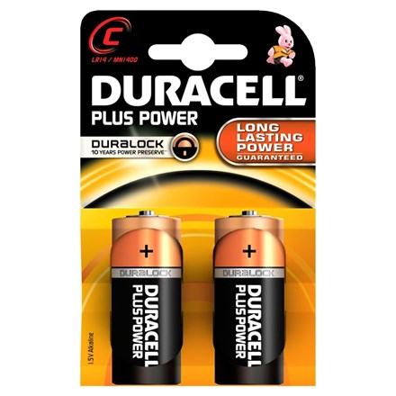 DURACELL PLUS POWER C - 2 PACK
