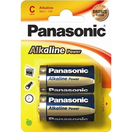 PANASONIC ALKALINE POWER - LR14/C - 2 PACK