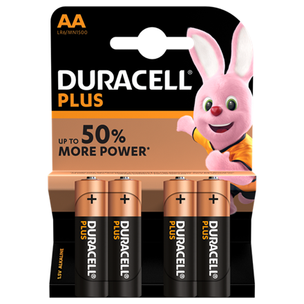 DURACELL PLUS POWER AA - 4 PACK