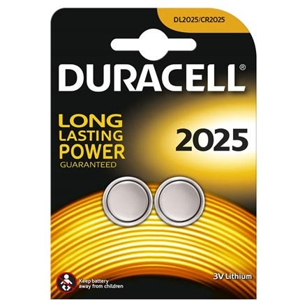 DURACELL - CR2025 - 2 PACK