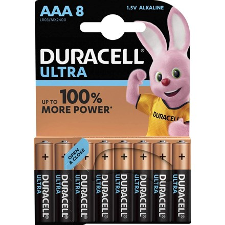 DURACELL ULTRA - AAA BATTERY - 8 PACK