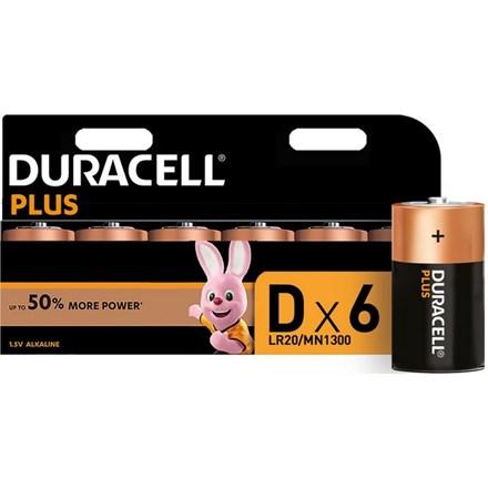 DURACELL PLUS POWER - D BATTERY - 6 PACK