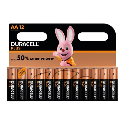 DURACELL PLUS POWER - AA BATTERY - 12 PACK