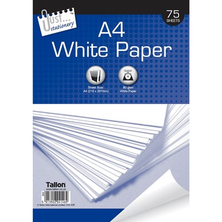 JUST STATIONERY - A4 COPIER PAPER - 75 SHEETS