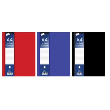 JUST STATIONERY - A4 RULED HARDBACK BOOK