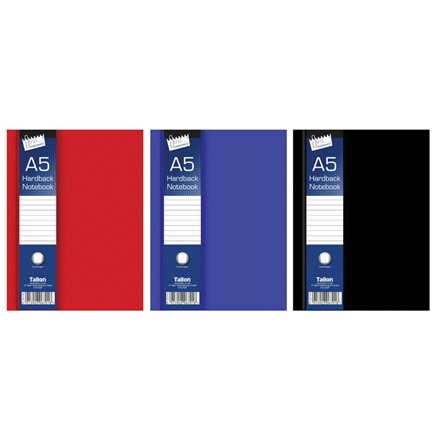 JUST STATIONERY - A5 RULED HARDBACK BOOK