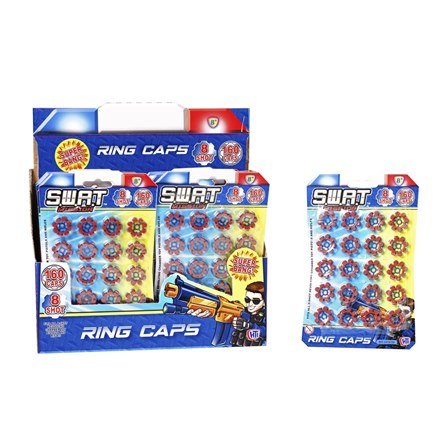 SWAT - 8 SHOT RING CAPS 160 SHOTS - CARDED