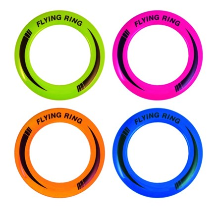 FLYING RINGS 25CM 4 ASSORTED COLOURS