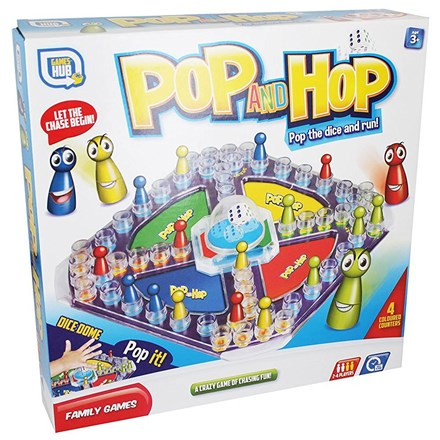 GAMES HUB POP AND HOP BOXED GAME