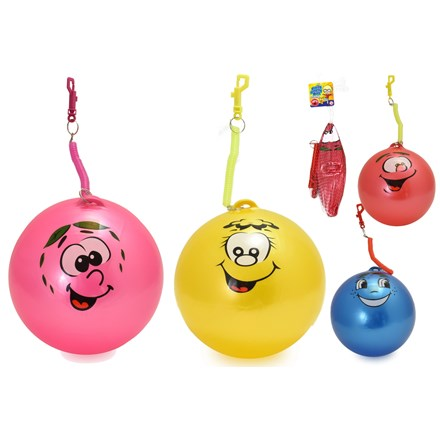 "9"" FRUITY SMELLY BALL WITH KEYRING - 4 ASSTD"