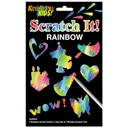 KREATIVE KIDS - RAINBOW SCRATCH IT STENCILS