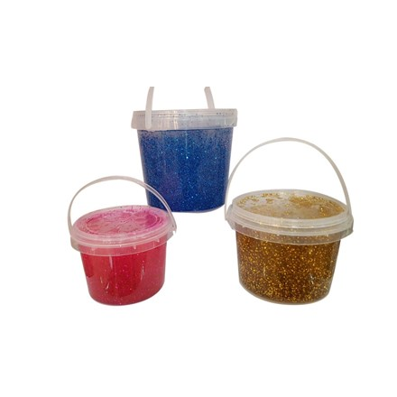 GLITTER PUTTY IN TUB - 300G - 4 ASSORTED